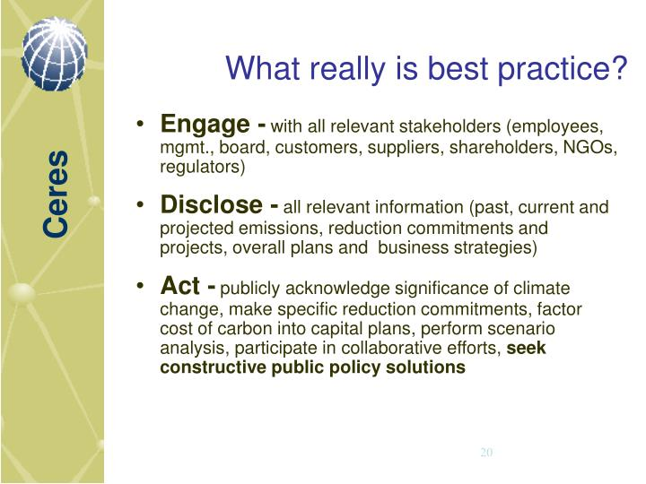 What really is best practice?