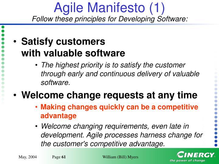 Agile Manifesto (1)