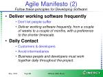 agile manifesto 2 follow these principles for developing software