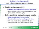 agile manifesto 5 follow these principles for developing software