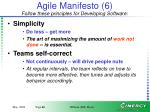 agile manifesto 6 follow these principles for developing software