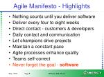 agile manifesto highlights