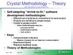 crystal methodology theory not related to crystal reporting