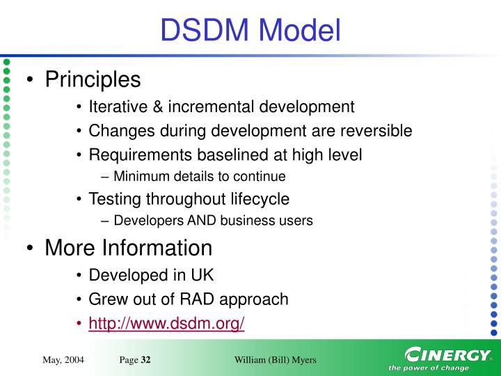 DSDM Model
