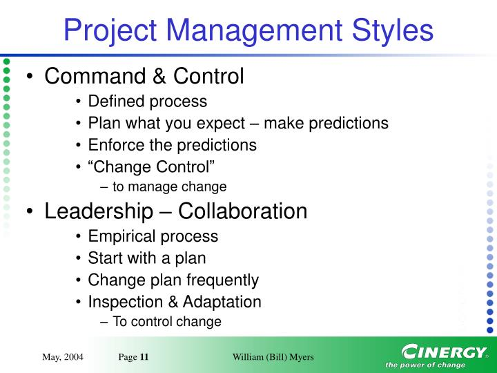 Project Management Styles