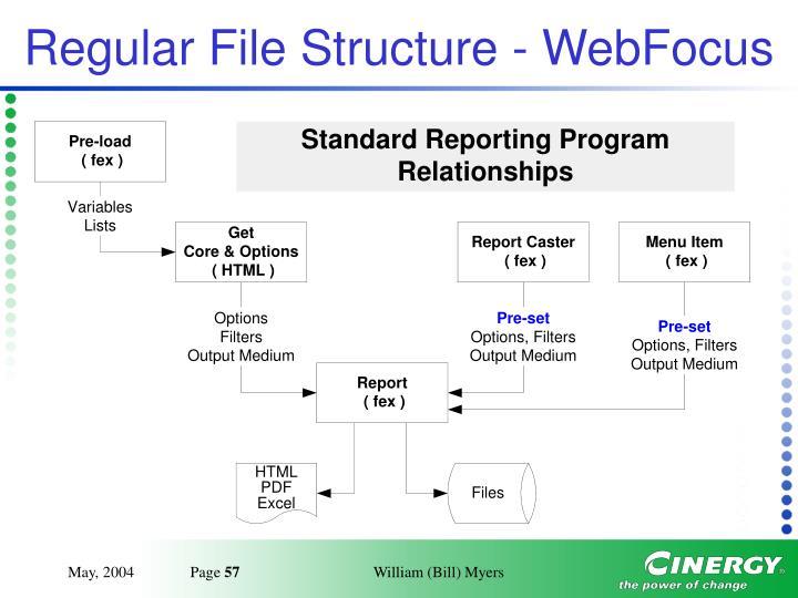 Regular File Structure - WebFocus