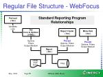 regular file structure webfocus