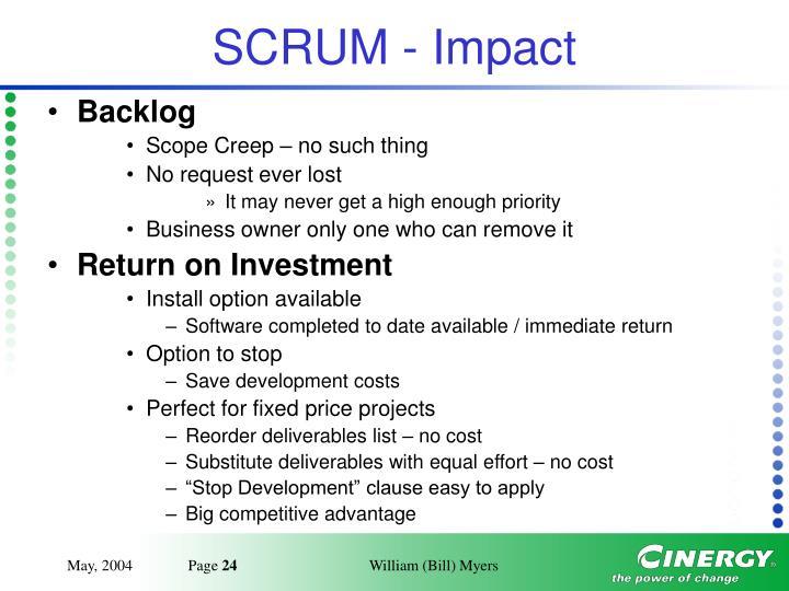 SCRUM - Impact