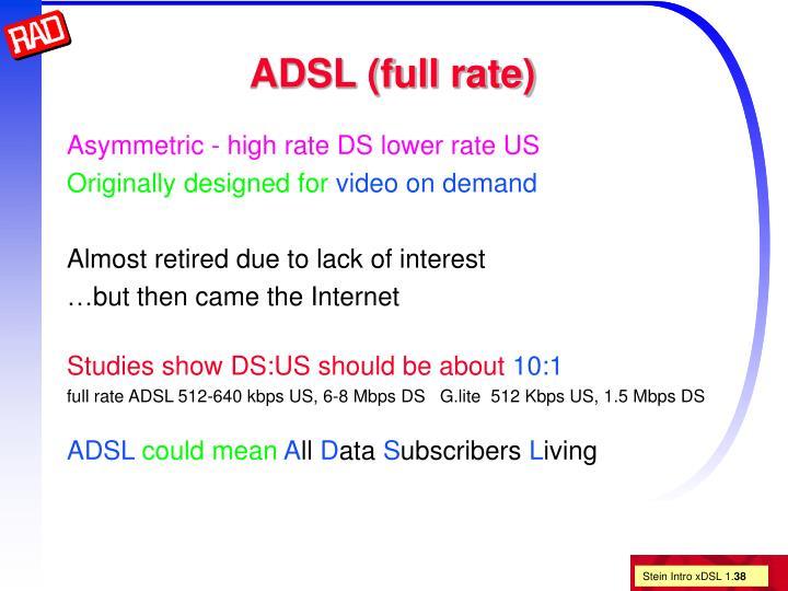 ADSL (full rate)