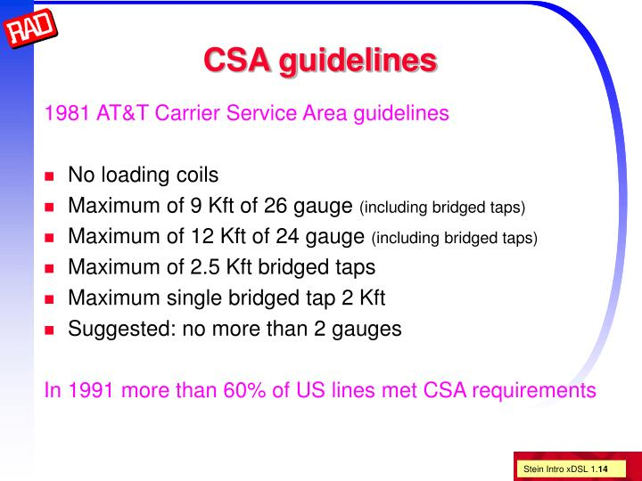 CSA guidelines