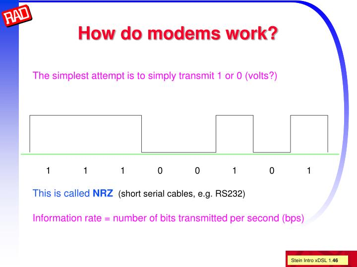 How do modems work?