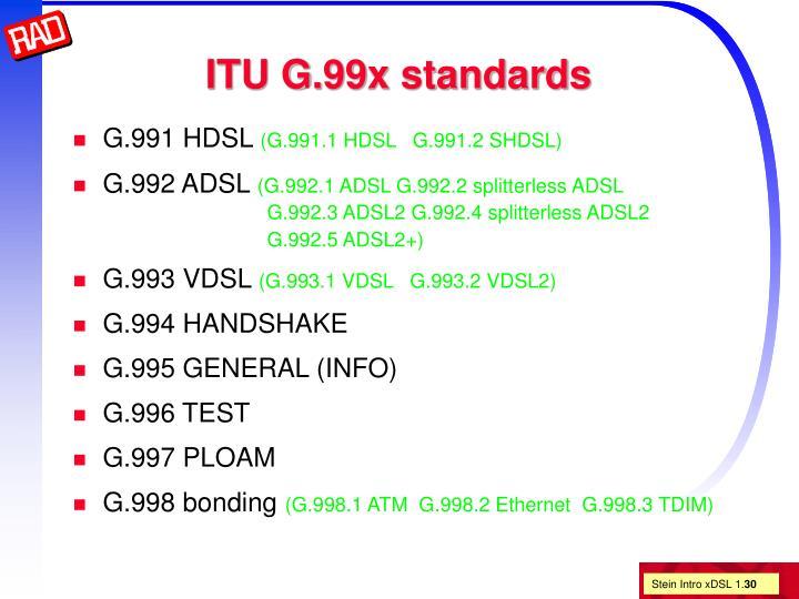 ITU G.99x standards