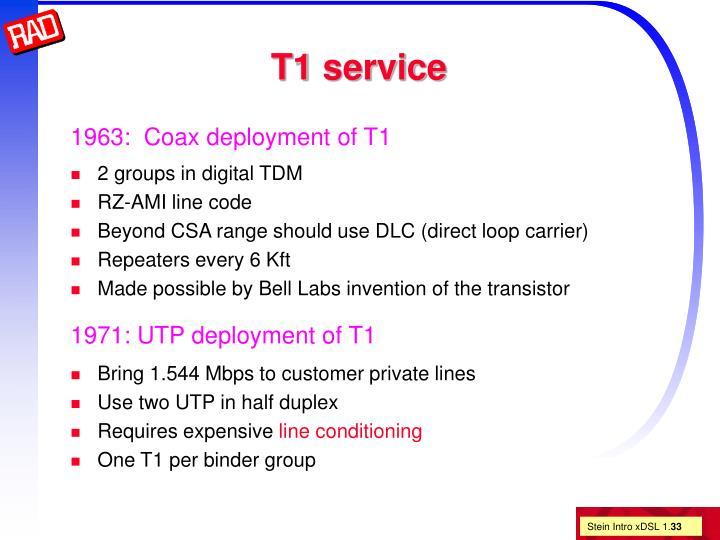 T1 service