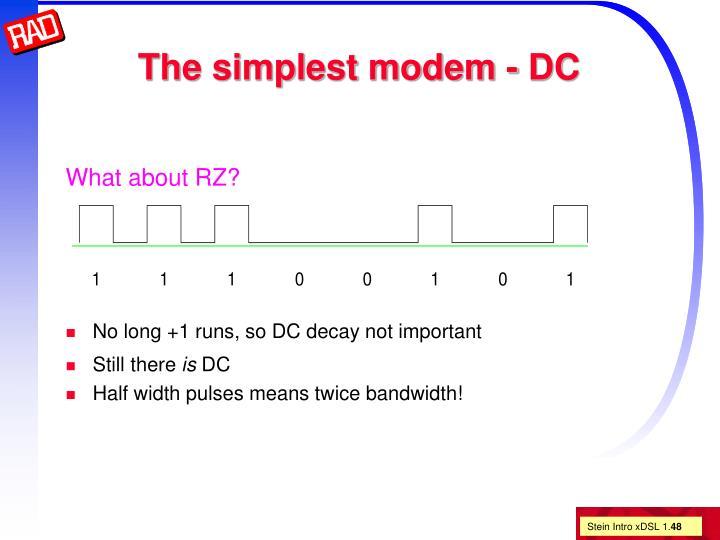 The simplest modem - DC
