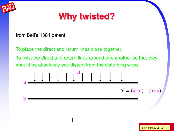 Why twisted?