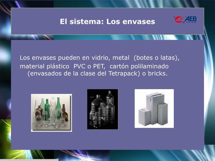 El sistema: Los envases