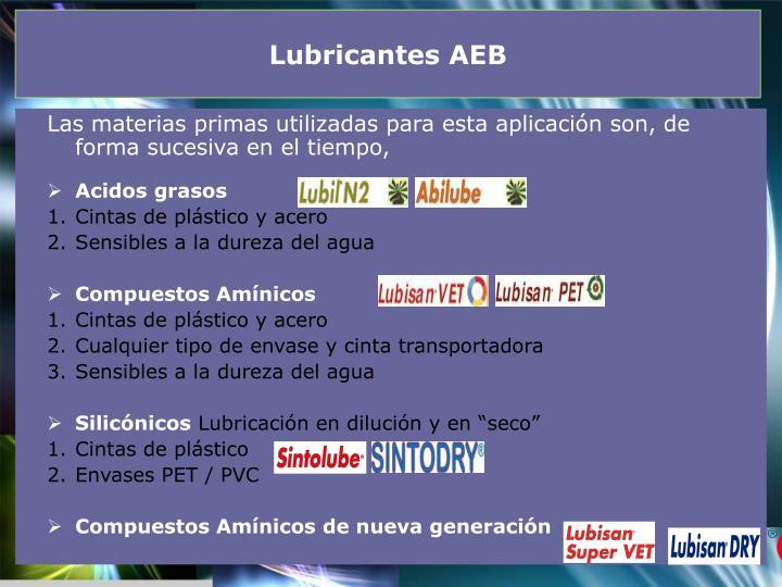 Lubricantes AEB