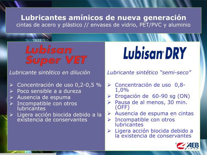 Lubricante sintético en dilución