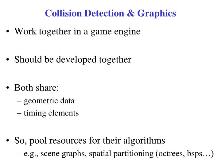 Collision Detection & Graphics