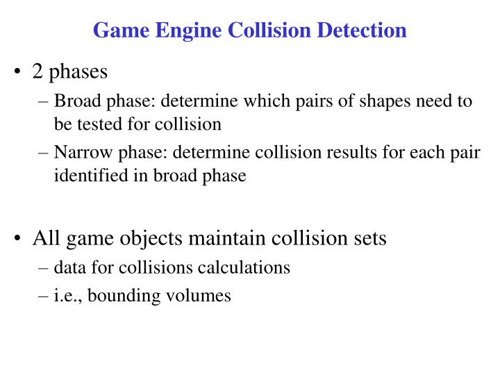 Game Engine Collision Detection
