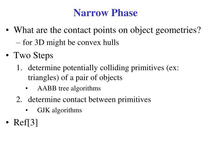 Narrow Phase