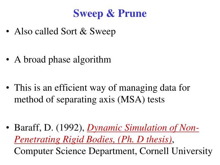 Sweep & Prune