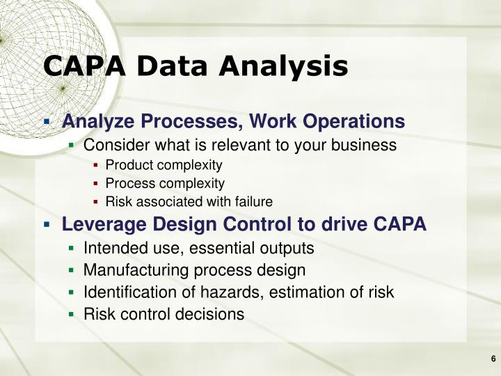 CAPA Data Analysis