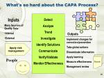 what s so hard about the capa process