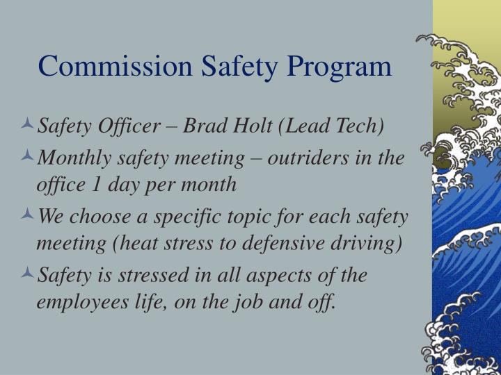 Commission Safety Program