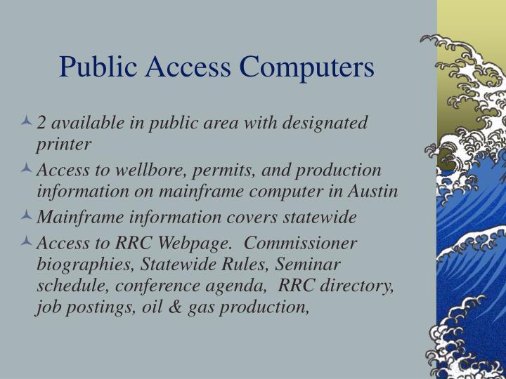 Public Access Computers