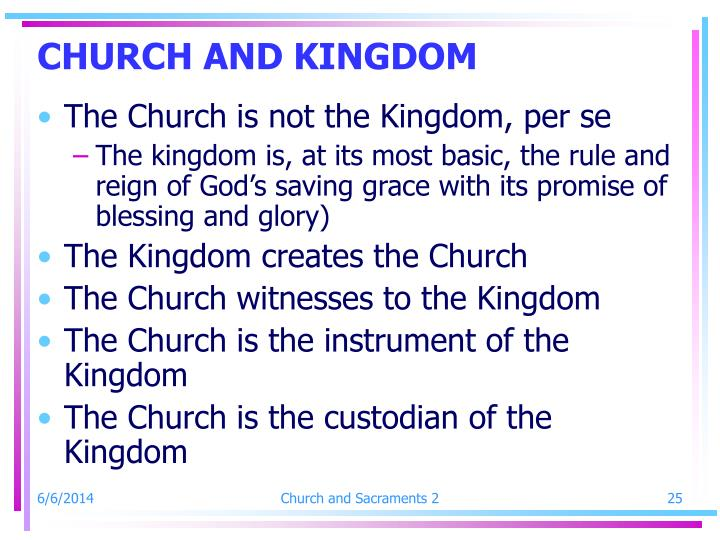 CHURCH AND KINGDOM