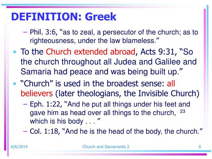 DEFINITION: Greek