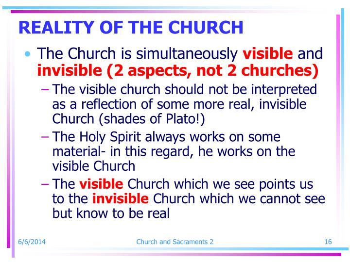 REALITY OF THE CHURCH