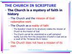 the church in scripture