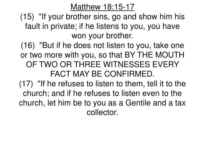 Matthew 18:15-17