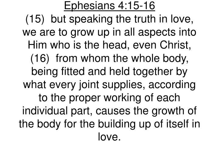 Ephesians 4:15-16