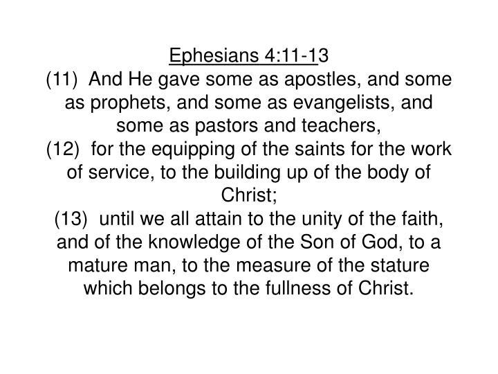 Ephesians 4:11-1
