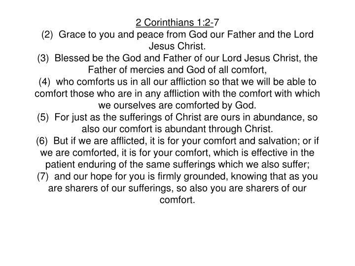 2 Corinthians 1:2-