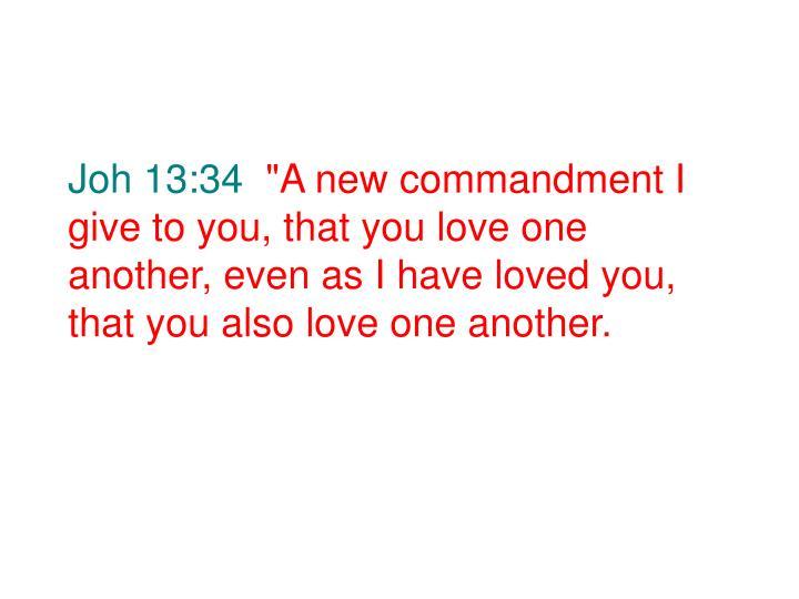 Joh 13:34
