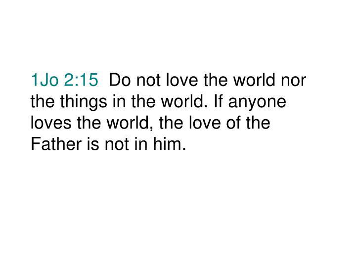 1Jo 2:15