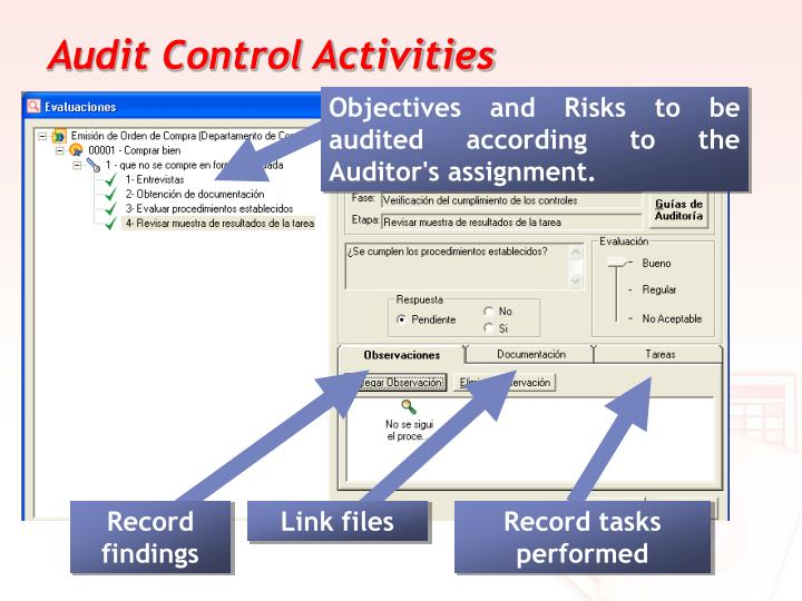 Audit Control Activities