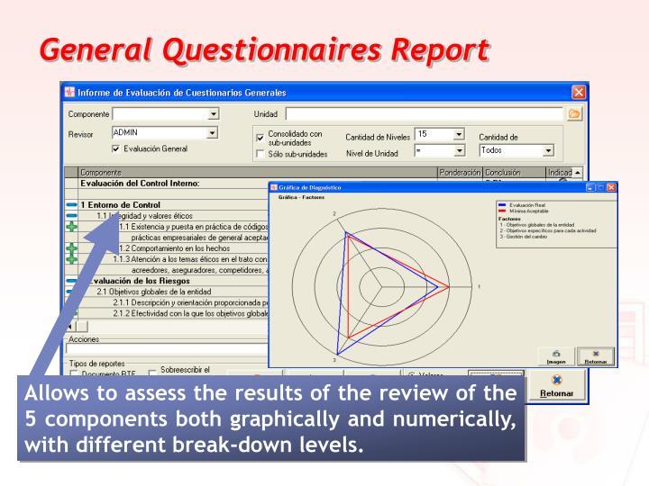 General Questionnaires Report