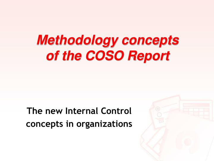Methodology concepts