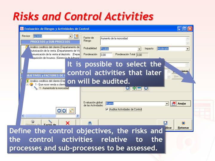 Risks and Control Activities