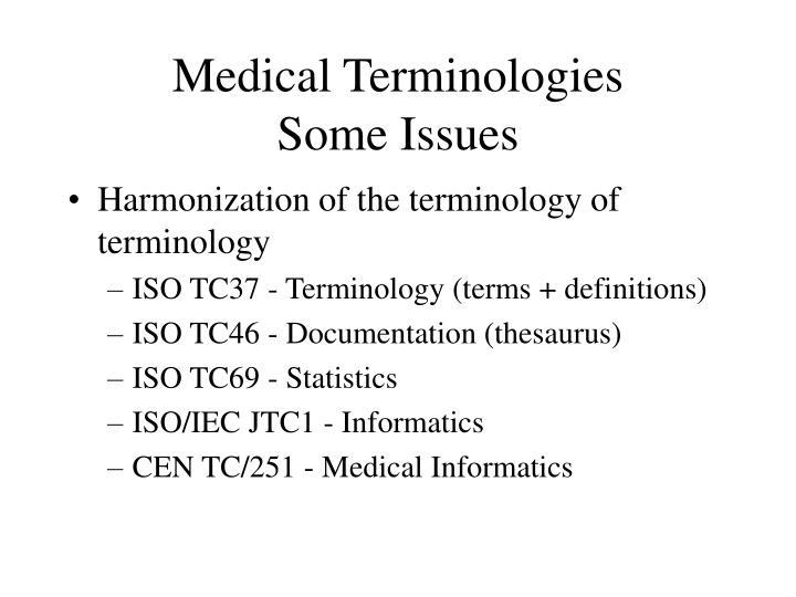 Medical Terminologies