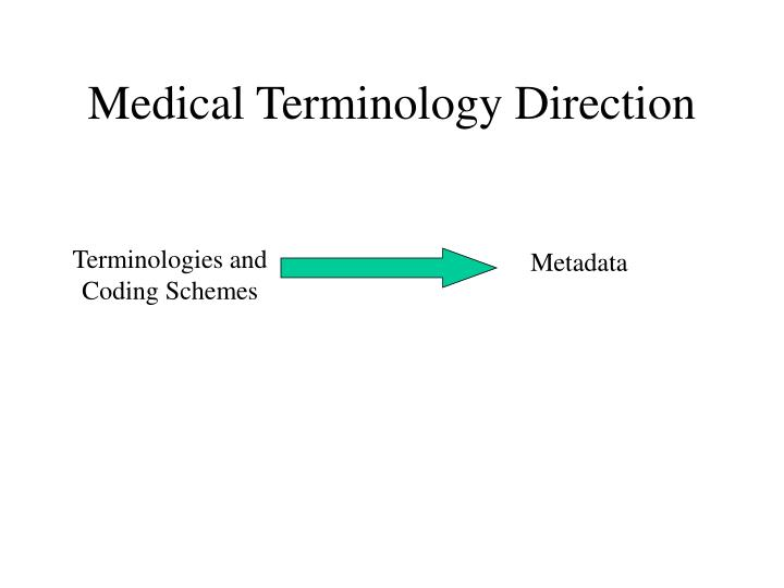 Medical Terminology Direction