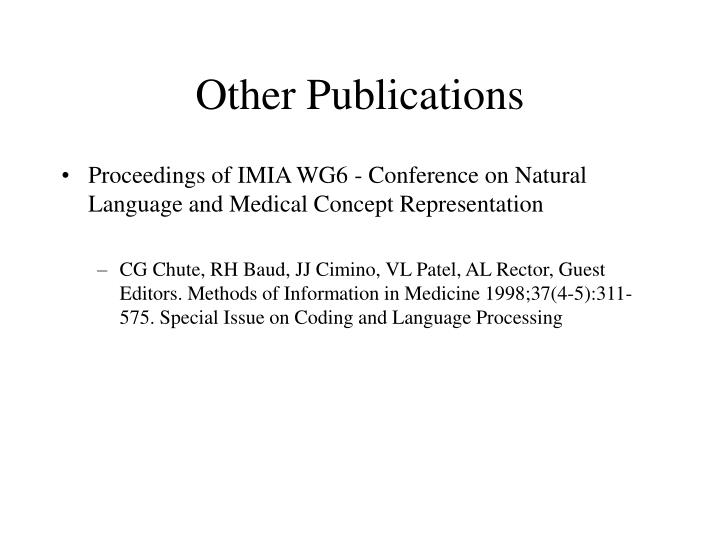 Other Publications
