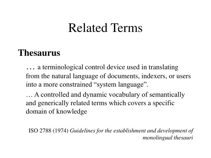 Related Terms