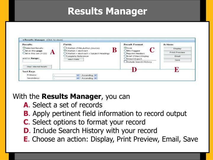 Results Manager