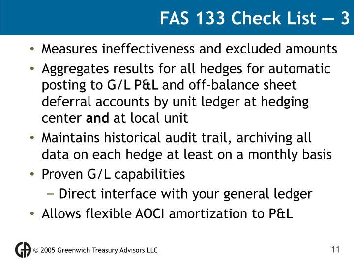 FAS 133 Check List — 3
